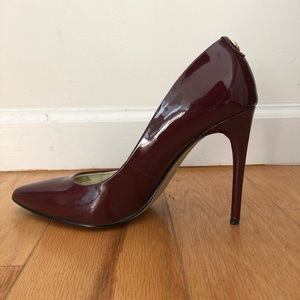 Ivanka Trump patent eggplant stiletto pumps